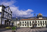 MADEIRA, Funchal Municipal Square, Town Hall and Collegiate Church (left), MAD1062JPL