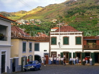 MADEIRA, Machico, town square and locals outside bar, MAD135JPL