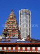 MALAYSIA, Penang, Komtar Tower and Hindu temple, old and new architecture, MSA518JPL