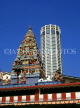 MALAYSIA, Penang, old and new architecture, Komtar Tower and Hindu temple, MSA429JPL