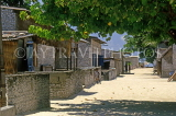 MALDIVE ISLANDS, Gulhi, fishing island and village, street and houses, coral walls, MAL673JPL