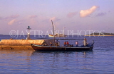 MALDIVE ISLANDS, Male, Dhoni (traditional fishing boat) entering harbour, MAL572JPL
