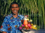 MALDIVE ISLANDS, waiter with cocktails on tray, MAL523JPL