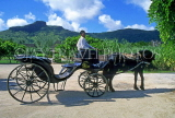 MAURITIUS, Domian Les Pailles, horse drawn carriage (for visitors), MRU324JPL