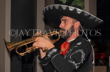 MEXICO, Mexico City, Mariachi playing trumpet, MEX760JPL