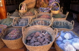 MOROCCO, Marrakesh, Medina, souk, spices and herbs in basket, MOR118JPL