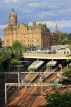 SCOTLAND, Edinburgh, Balmoral Hotel and and Waverley Rail Station, SCO888JPL