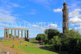 SCOTLAND, Edinburgh, Calton Hill, National Monument & Nelson Monument, SCO839JPL