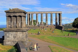 SCOTLAND, Edinburgh, Calton Hill, National Monument & Plafair Monument, SCO865JPL