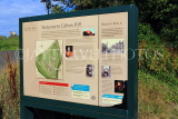 SCOTLAND, Edinburgh, Calton Hill, information and map board, SCO867JPL