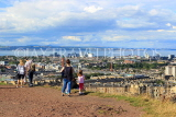 SCOTLAND, Edinburgh, Calton Hill, view towards Leith & Firth of Forth, SCO876JPL