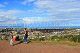 SCOTLAND, Edinburgh, Calton Hill, view towards Leith & Firth of Forth, SCO877JPL