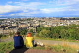 SCOTLAND, Edinburgh, Calton Hill, view towards Leith & Firth of Forth, and couple, SCO874JPL