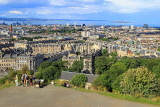SCOTLAND, Edinburgh, Calton Hill, view towards Leith and Firth of Forth, SCO870JPL