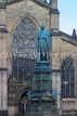 SCOTLAND, Edinburgh, Duke of Buccleuch memorial statue, High Street, SCO1027JPL