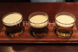 SCOTLAND, Edinburgh, Grassmarket, sample beer tasting in a restaurant, SCO1060JPL