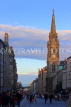 SCOTLAND, Edinburgh, High Street and Tron Kirk (former church), at dusk, SCO1064JPL