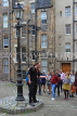 SCOTLAND, Edinburgh, visitors on free walking tour with guide, SCO952JPL