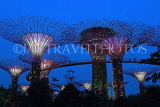 SINGAPORE, Gardens by the Bay, Supertree Grove, illuminations, SIN477JPL