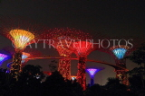 SINGAPORE, Gardens by the Bay, Supertree Grove, illuminations, SIN478JPL