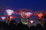 SINGAPORE, Gardens by the Bay, Supertree Grove, illuminations, SIN479JPL