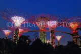 SINGAPORE, Gardens by the Bay, Supertree Grove, illuminations, SIN480JPL
