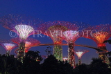 SINGAPORE, Gardens by the Bay, Supertree Grove, illuminations, SIN482JPL