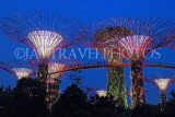 SINGAPORE, Gardens by the Bay, Supertree Grove, illuminations, SIN485JPL
