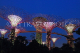 SINGAPORE, Gardens by the Bay, Supertree Grove, illuminations, SIN486JPL