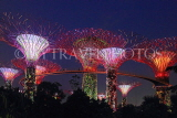 SINGAPORE, Gardens by the Bay, Supertree Grove, illuminations, SIN487JPL