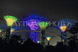 SINGAPORE, Gardens by the Bay, Supertree Grove, illuminations, SIN489JPL