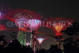 SINGAPORE, Gardens by the Bay, Supertree Grove, illuminations, SIN491JPL