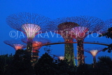 SINGAPORE, Gardens by the Bay, Supertree Grove, illuminations, SIN492JPL