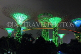 SINGAPORE, Gardens by the Bay, Supertree Grove, illuminations, SIN493JPL