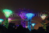 SINGAPORE, Gardens by the Bay, Supertree Grove, illuminations, SIN496JPL