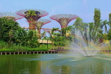 SINGAPORE, Gardens by the Bay, Supertree Grove and Kingfisher Lake, SIN469JPL
