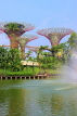 SINGAPORE, Gardens by the Bay, Supertree Grove and Kingfisher Lake, SIN470JPL