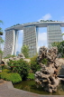 SINGAPORE, Gardens by the Bay, and Marina Bay Sands Hotel, SIN1377JPL