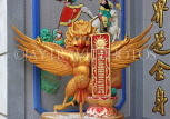 SINGAPORE, Little India, Leong San See Temple, interior, mythological figures, SIN663JPL