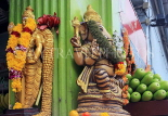 SINGAPORE, Little India, deities with floral garlands, SIN805JPL