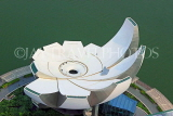 SINGAPORE, Marina Bay, ArtScience Museum, view from Marina Bay Sands Skypark, SIN1298JPL