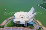 SINGAPORE, Marina Bay, ArtScience Museum, view from Marina Bay Sands Skypark, SIN1301JPL