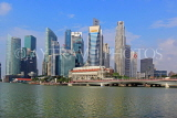 SINGAPORE, Marina Bay, and Singapore skyline, SIN1216PL