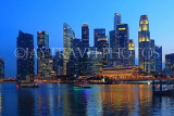 SINGAPORE, Marina Bay, and Singapore skyline, at night, SIN1386JPL