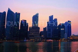 SINGAPORE, Marina Bay, and Singapore skyline at dusk, SIN1160JPL