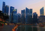 SINGAPORE, Marina Bay, and Singapore skyline at dusk, SIN1161JPL