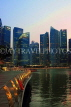 SINGAPORE, Marina Bay, and Singapore skyline at dusk, SIN1162JPL