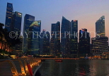SINGAPORE, Marina Bay, and Singapore skyline at dusk, SIN1163JPL