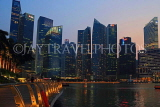 SINGAPORE, Marina Bay, and Singapore skyline at dusk, SIN1164JPL