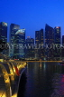 SINGAPORE, Marina Bay, and Singapore skyline at night, SIN1156JPL